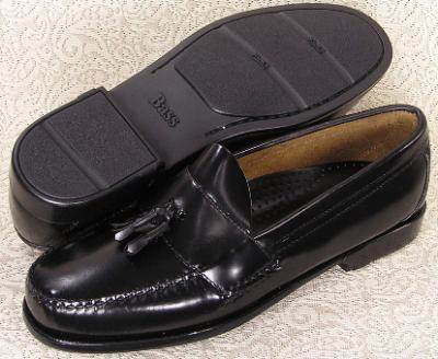 Picture of Bass Brewster Tassel Slipon Rubber Sole (Black)