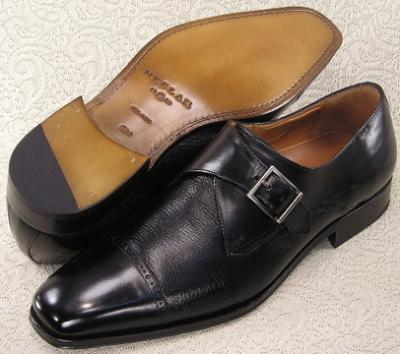 Picture of Mezlan Mercker Monk Strap Slipon (Black)