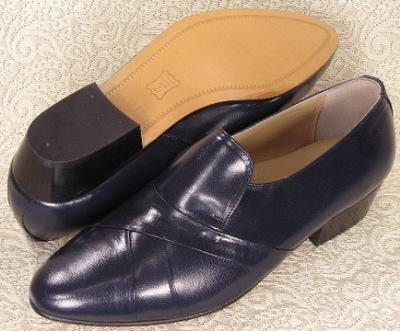Picture of Giorgio Brutini Stack Heel Slipon 24461 (Navy)