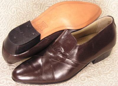 Picture of Giorgio Brutini Stack Heel Slipon 24461 (Brown)
