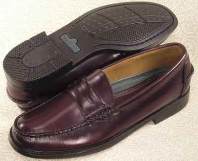 Picture of Sebago Sherman Penny Slipon (Rubber Sole) Burgundy
