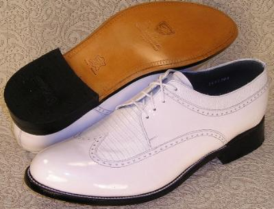 Picture of Stacy Baldwin Wingtip Oxford (White)