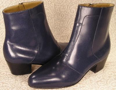Picture of Giorgio Brutini Stacked Heel Boot 80575 (Navy)