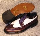 Picture of Brentano Spectator Wingtip (Burgundy/White)