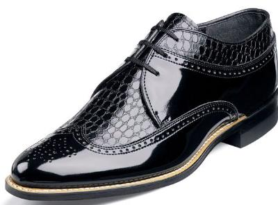 Picture of Stacy Adams Dayton Snake Oxford (Black) 00605