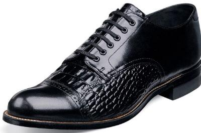 Picture of Stacy Adams Madison Croco Blucher (Black) 00034