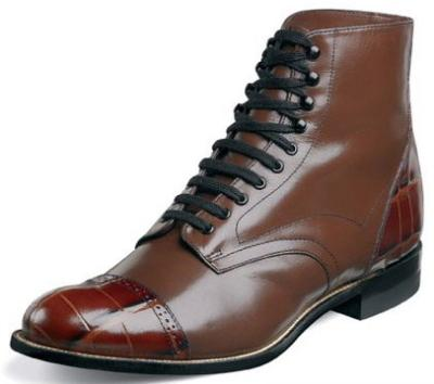 Picture of Stacy Adams Madison Croc Boot (Cognac)