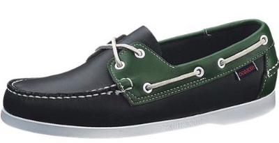 Picture of Sebago Docksides Spinnaker (Navy/Green) 72826 M