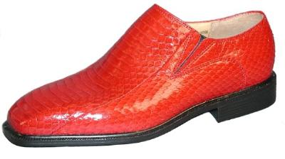 Picture of Giorgio Brutini Snake Slipon 155210 (Red)