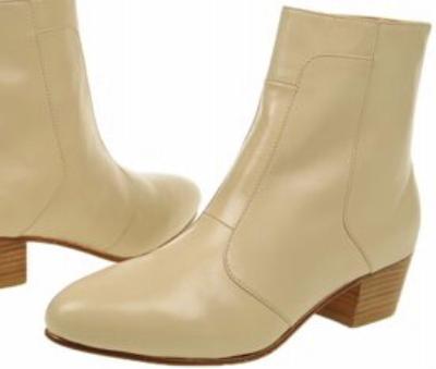 Picture of Giorgio Brutini Stacked Heel Boot 80575 (Cream)