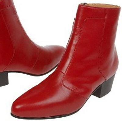 Picture of Giorgio Brutini Stacked Heel Boot 80575 (Red)