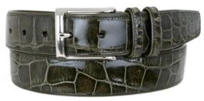 Picture of Mezlan 7907 Belt Alligator (Olive)