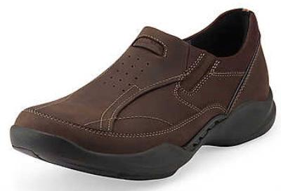 Picture of Clarks Wave Path Slipon (Brown NuBuck)
