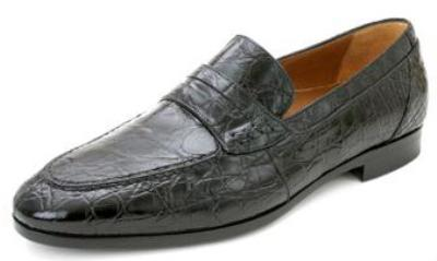 Picture of Mezlan Soli Crocodile Slipon (Black)