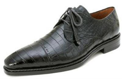 Picture of Mezlan Cotto Alligator Oxford (Black)