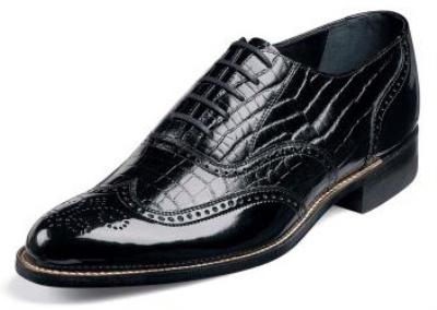 Picture of Stacy Adams Dayton 00267 Croco (Black)