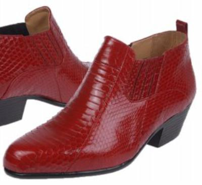 Picture of Giorgio Brutini Snake Gore Boot 15064 (Red)
