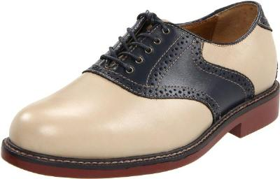 Picture of Bass Buchanon Saddle Oxford (Hemp/Navy)