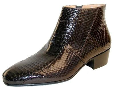 Picture of Giorgio Brutini Snake Zip Boot 155492 (Brown)