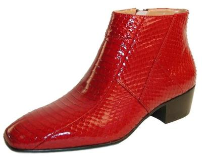 Picture of Giorgio Brutini Snake Zip Boot 155490 (Red)