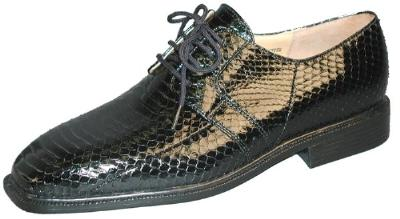 Picture of Giorgio Brutini Snake Oxford 155221 (Black)