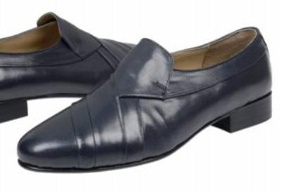Picture of Giorgio Brutini Pleated Slipon 244383 (Navy)