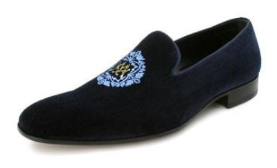 Picture of Mezlan Dominio Velvet Crest Slipon (Blue)