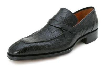 Picture of Mezlan Ramato Crocodile Slipon (Black)