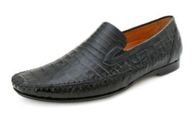 Picture of Mezlan Morellino Crocodile Slipon (Black)