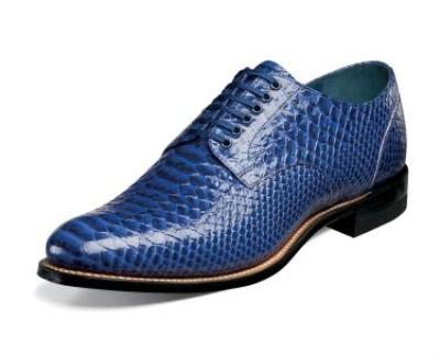Picture of Stacy Adams Madison Anaconda Oxford (Blue)