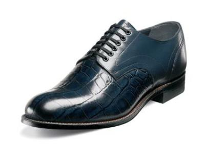 Picture of Stacy Adams Madison Plain Croco Oxford (Navy)