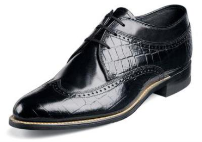 Picture of Stacy Adams Dayton Croco Oxford (Black)