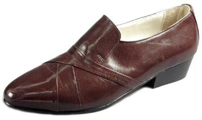 Picture of Giorgio Brutini Stack Heel Slipon 24461 (Wine)
