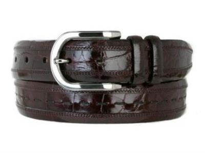 Picture of Mezlan 8869 Belt Alligator (Burgundy)