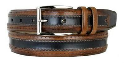 Picture of Mezlan 8859 Belt (Tan/Blue)
