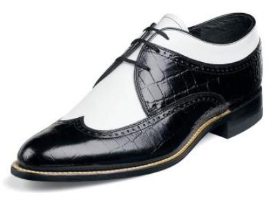 Picture of Stacy Adams Dayton Croco Spectator (Black/White)