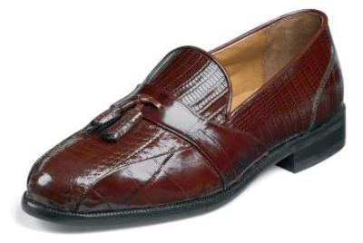 Picture of Stacy Adams Alberto Lizard/Croco Slipon (Cognac)
