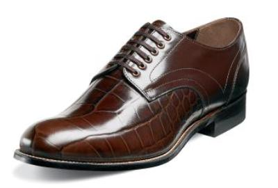 Picture of Stacy Adams Madison Plain Croco Oxford (Brown)