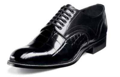 Picture of Stacy Adams Madison Plain Croco Oxford (Black)