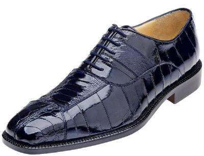Picture of Belvedere Mare Ostrich EEL Oxford (Navy)