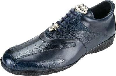 Picture of Belvedere Bene Ostrich Oxford (Navy)