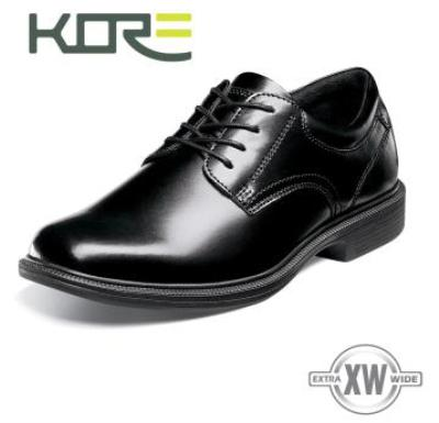 Picture of Kore Baker St Plain Toe Oxford (Black)