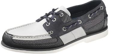 Picture of Sebago Crest Vent Boat Shoe (Navy/Gray)