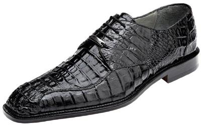 Picture of Belvedere Chapo Crocodile Oxford (Black)