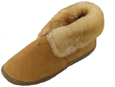 Picture of Ciabatta Shearling Bootie Slipper (Tan) M