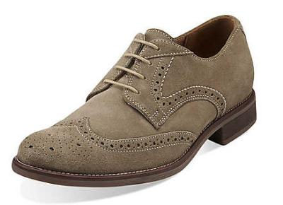 Picture of Bostonian Pavillion Wingtip Oxford (Taupe/Suede)