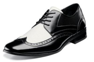 Picture of Stacy Adams Atticus Wingtip Spectator (Black/White)