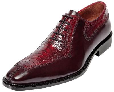 Picture of Belvedere Dino Ostrich Oxford (Antiqued/Red)