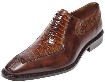 Picture of Belvedere Dino Ostrich Oxford (Antiqued/Camel)