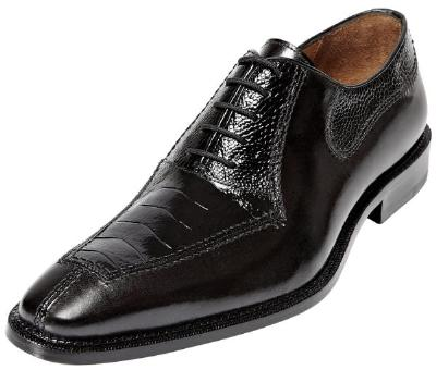 Picture of Belvedere Dino Ostrich Oxford (Black)